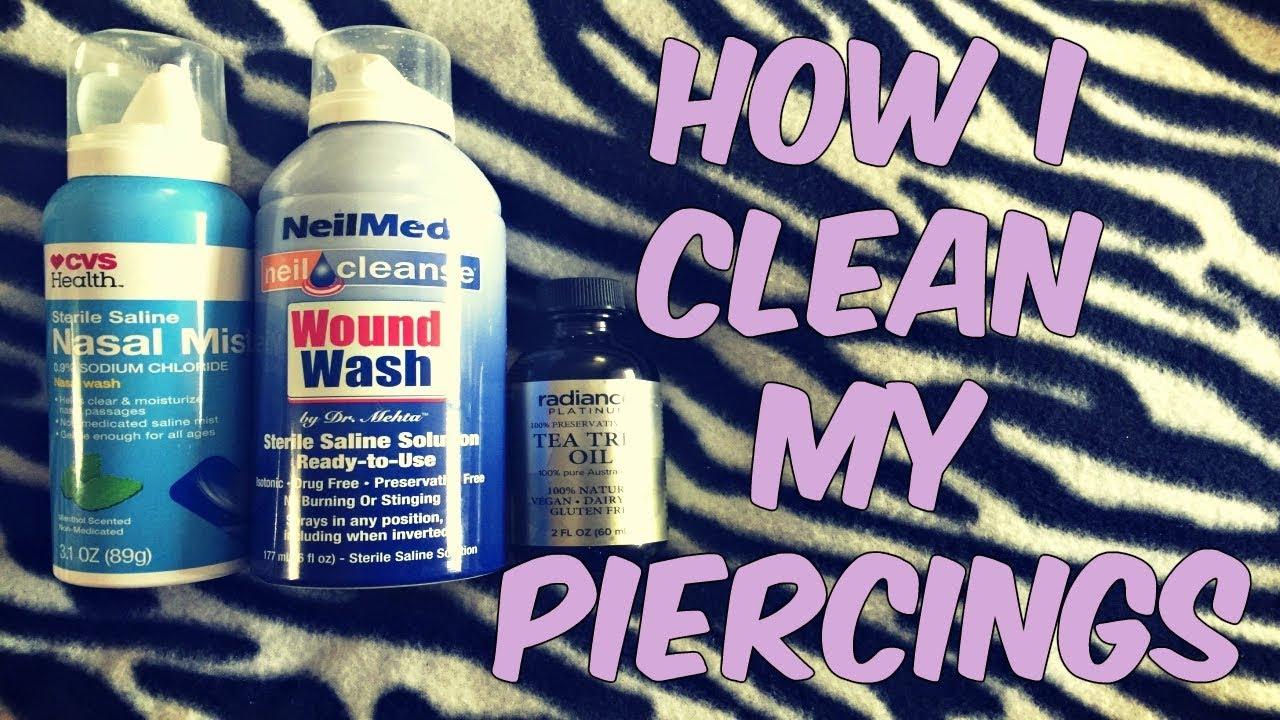 How I Clean My Piercings Daith Conch Tragus Youtube