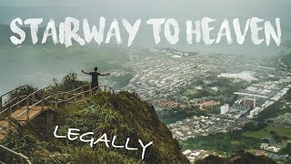 Stairway To Heaven Hike in 4K (Legally Hiking the Haiku Stairs on Oahu, Hawaii) 2019