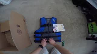 Unboxing Stearns Adult Watersport Classic Series Life Vest, Blue