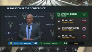 Bucks coach Kidd: 'Golden State's defense is one of the best in the league'