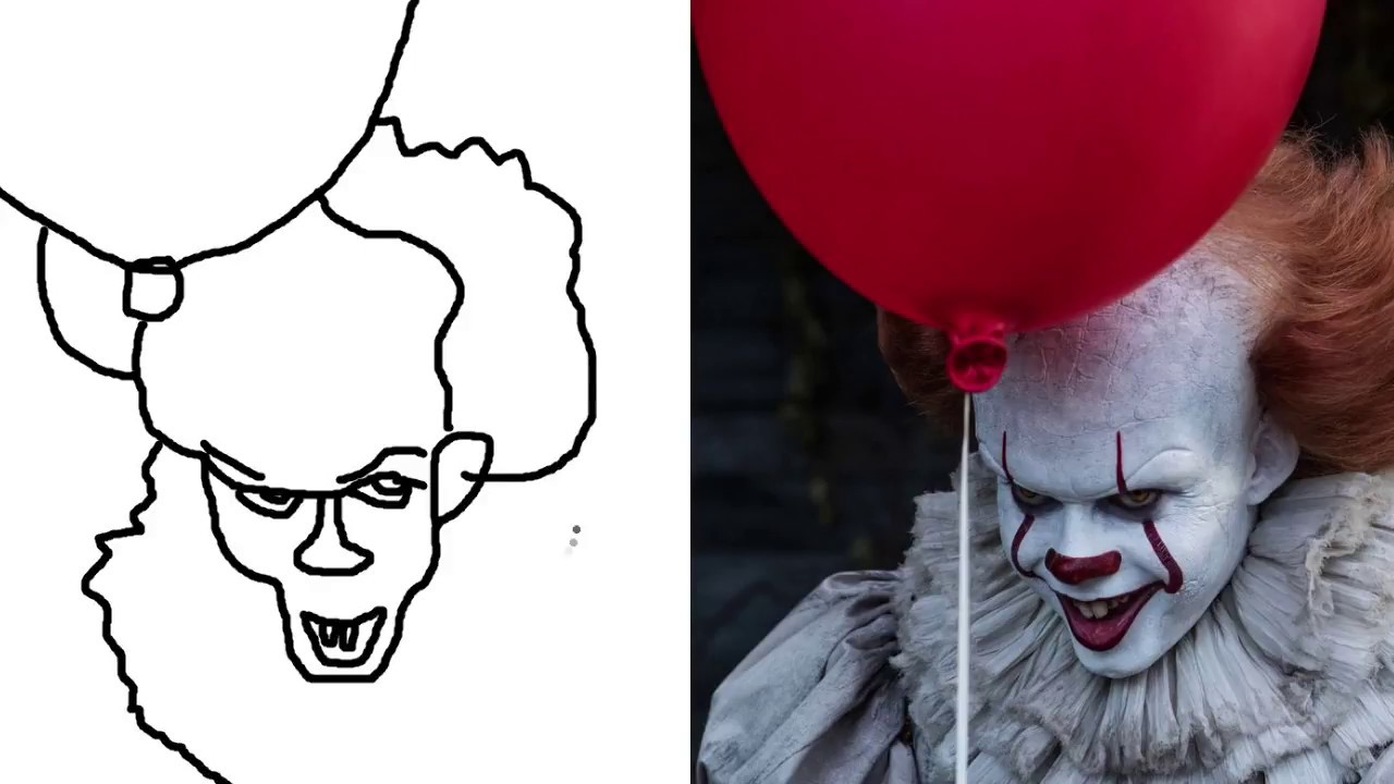 It 2017 Clown How to Draw Colouring Pages for Kids - YouTube