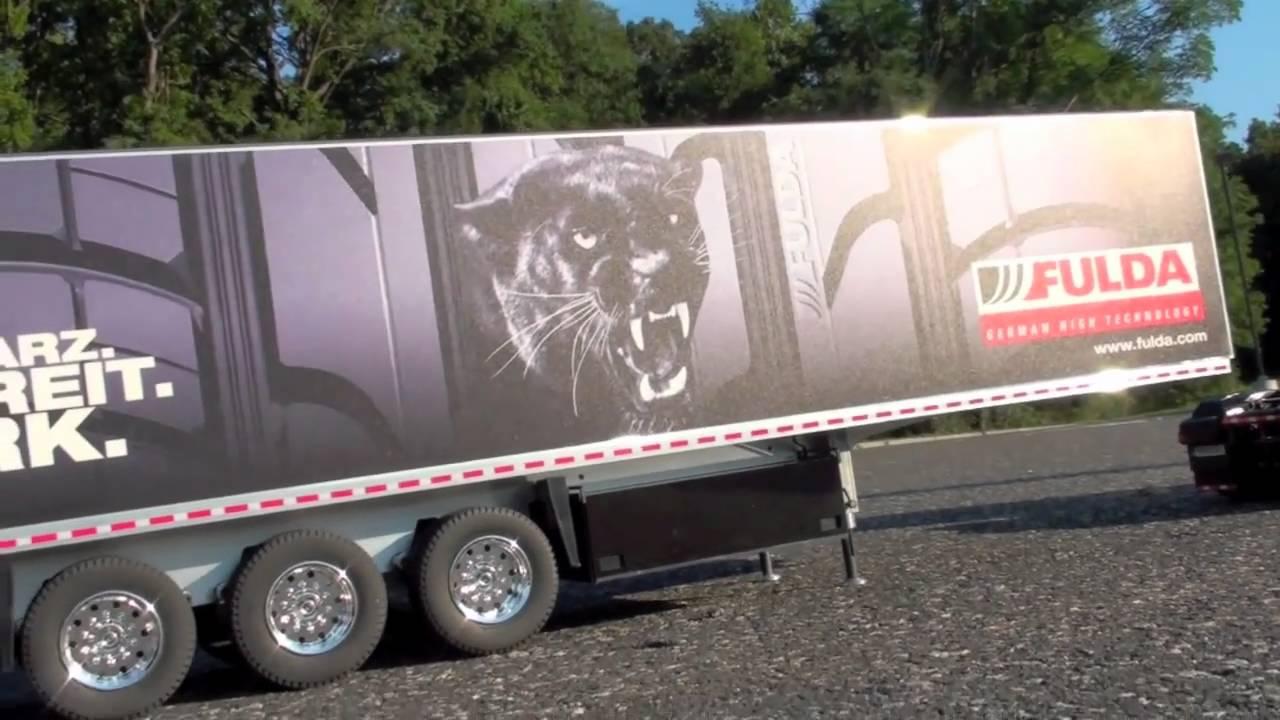 Tamiya Man Truck And Carson Fulda Trailer 1 14 Youtube