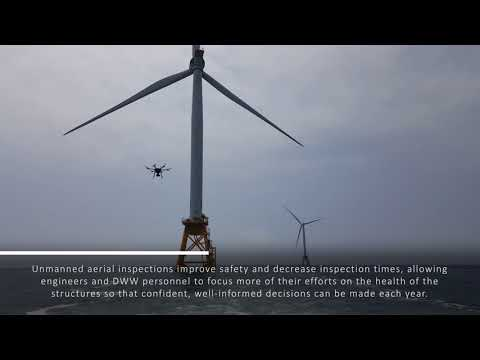 Drone Inspection of Offshore Wind Turbines - Deepwater Wind - Block Island