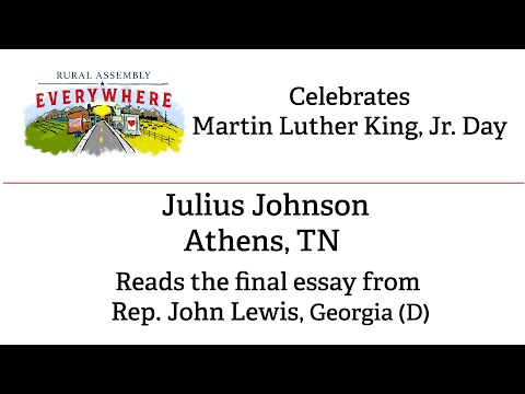 Julius Johnson reads Rep. John Lewis' final essay.