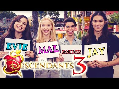 DESCENDANTS 3 🍎 MAL, EViE, JAY & CARLOS Evolution According to the CAST! 🎬
