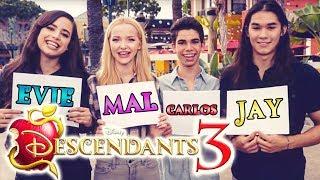 DESCENDANTS 3 🍎 MAL, EViE, JAY & CARLOS Evolution According to the CAST! 🎬