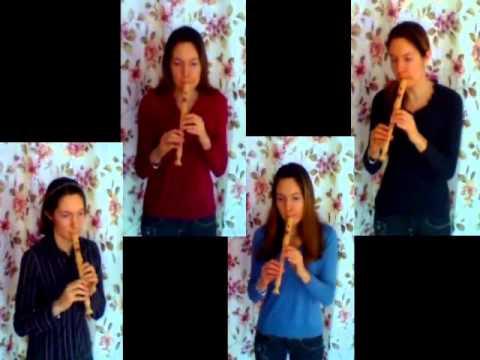 Pachelbel's Canon in D Major - quartet (recorder, flute, or oboe)