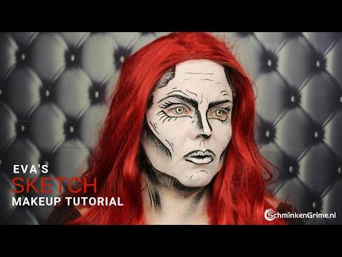 The Sketch Face Paint Tutorial   Halloween Face Paint Tutorial thumbnail