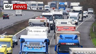Road hauliers 'petrified and terrified' in Dover, as Brexit looms