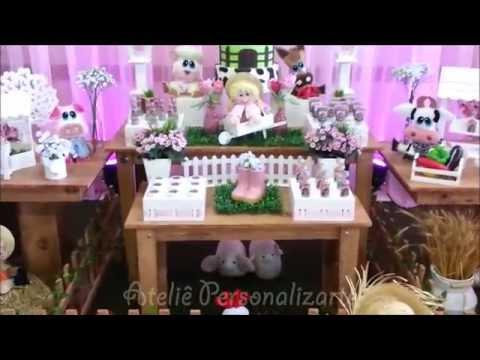 Decoração de festa infantil Fazendinha - Rosa Menina