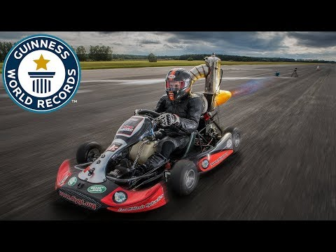 Tom Bagnall: Fastest jet-powered go-kart - Meet The Record Breakers