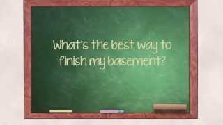 The Right Products To Finish A Basement | Ask The Expert | Alford Home Solutions