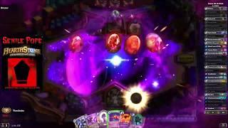 Hearthstone BDP: Dual Arena - Warlock Priest vs Hunter Paladin (Season 55 Day 20)