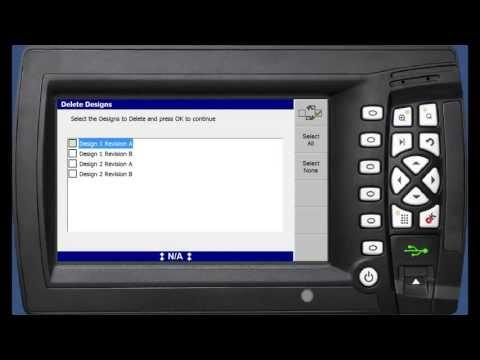 Manage Designs on Trimble GCS900