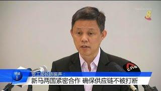 陈振声:新马两国紧密合作 确保供应链不被打断 - YouTube