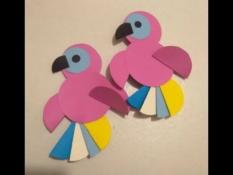 DIY Crafts for Kids - Paper Birds - Paper parrot - Tutorial !