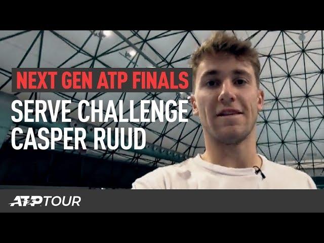 Ruud Takes The Next Gen Serve Challenge | Next Gen ATP Finals