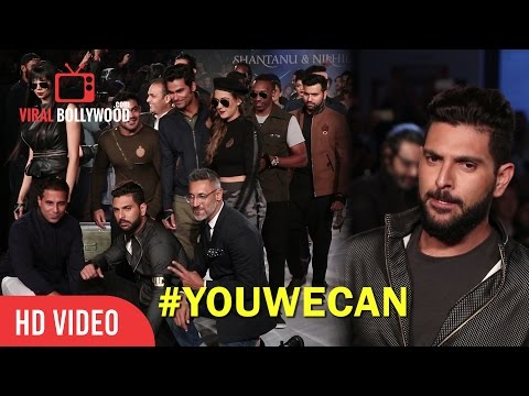 Cool Dude Yuvraj Singh Walks The Ramp For YWC Fashion | Gayle, Bravo, Sushil Kumar, Sehwag, Rohit,