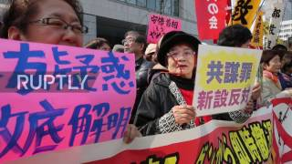 Japan  Thousands of protesters demand PM Abe steps down in Tokyo
