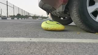 Car crushing a emoji smiley face #emoji #car #crush #crushing #smileyface