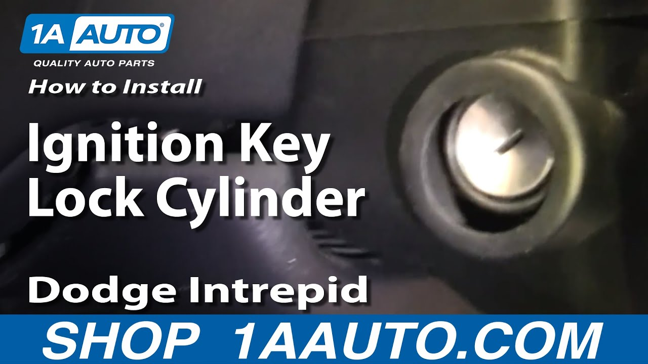 replace ignition lock cylinder   dodge intrepid