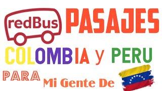 REDBUS COMO FUNCIONA🤔PASAJES EN PERU Y COLOMBIA✔💲COMPRA TUS PASAJES ONLINE😁📱 screenshot 1