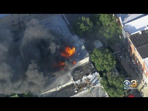 Firefighters Battle Rowhome Fire In South Philadelphia