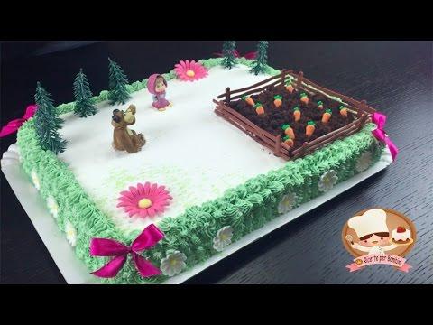 Ricetta della torta di compleanno di masha e orso per la for Idee per torte di compleanno
