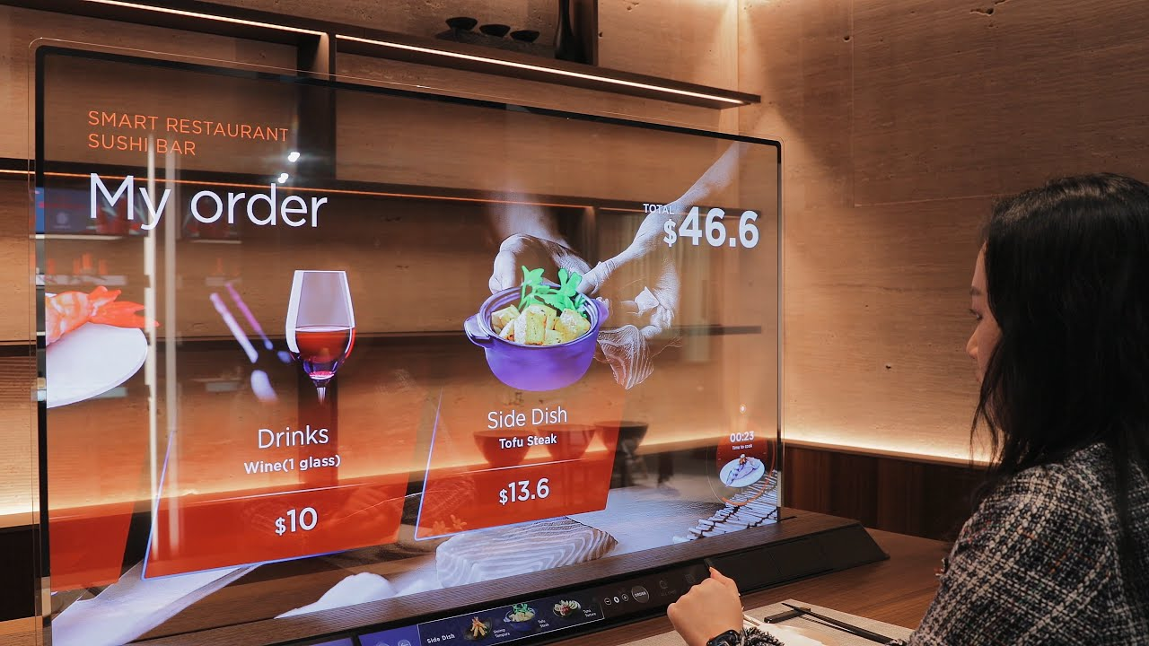 Crazy transparent OLED concept TVs