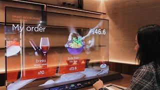 Crazy transparent OLED concept TVs