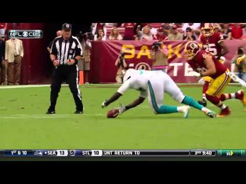 Redskins Rookie DL Preston Smith's Sack and Forced Fumble   Dolphins vs. Redskins   NFL