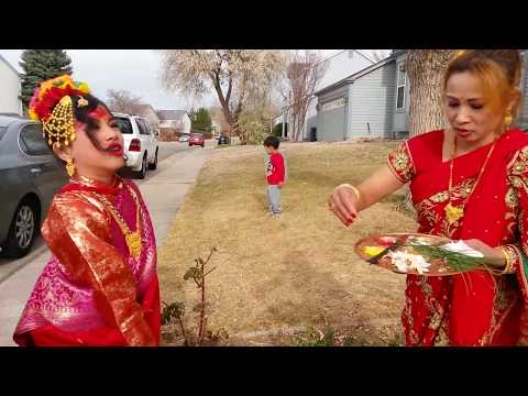 Bahra ceremony ( an unique tradition of Nepal, specially in Newari culture) in USA