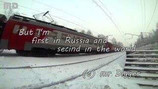 Skiing behind a train | На лыжах за поездом  Russia Saint-Petersburg 50fps