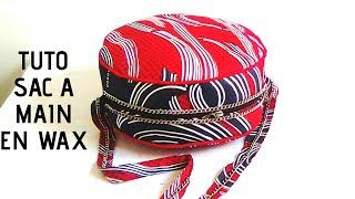 15273f2b8e Tuto, Comment coudre un sac a main rond, tissu pagne, wax, (