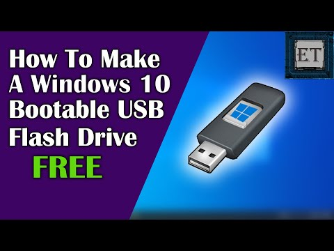 How To Make A Windows 10 Bootable USB Flash Drive | 2020