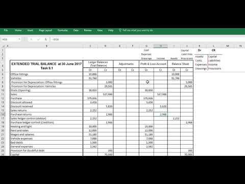 Creating a extended trial balance - Adjusting for Closing stock Mp3