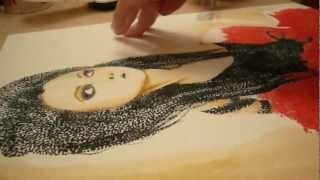 AMY LEE speed painting (markers and watercolors)