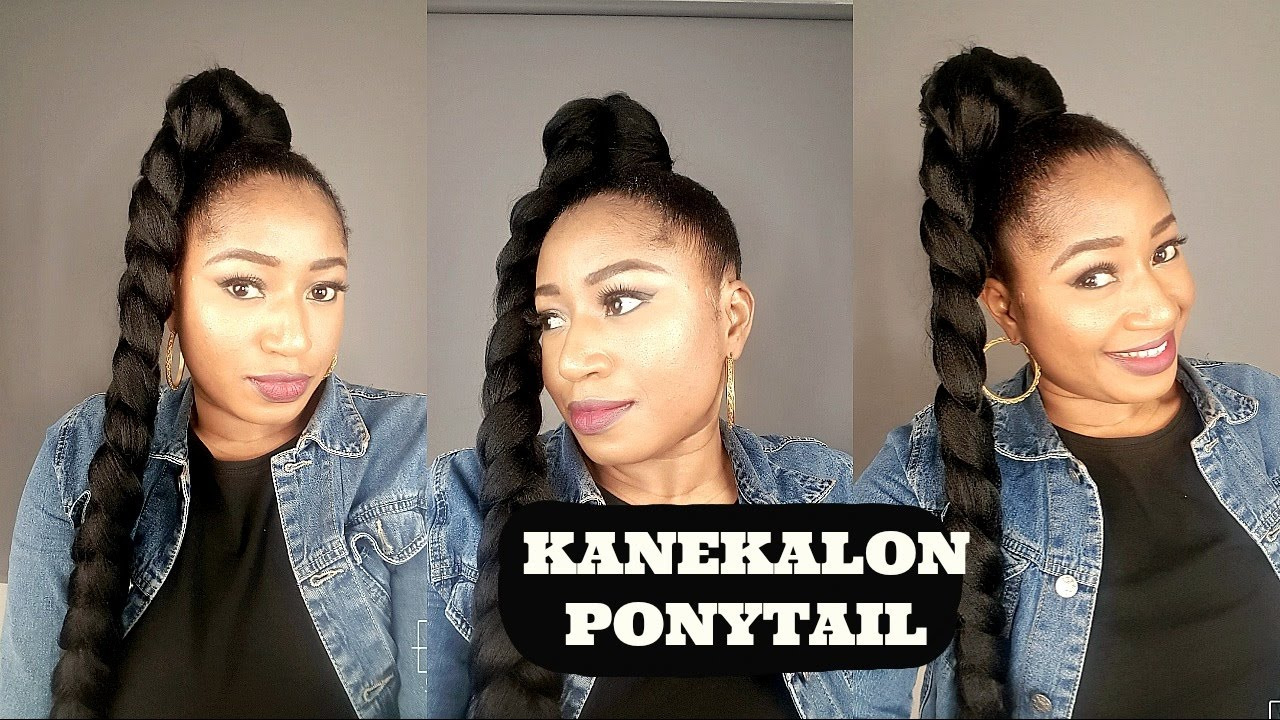 styles to do with kanekalon hair kanekalon ponytail how to 1598 | maxresdefault