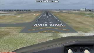 FS2004のANAウイングスボーイング737-881 JA68ANで東京国際空港滑走路22...