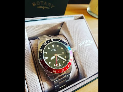 Watch Unboxing - Rotary GMT GB00680/04 (Pepsi Bezel)