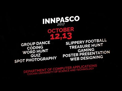 Innpasco 2017 Promo | Cochin University Of Science And Technology