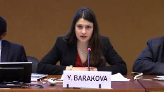Yoana Barakova (EFSAS) speaking on Human Rights in Afghanistan during 37th Session UNHRC
