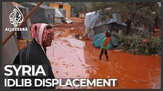 Syria's war: Desperation after Idlib displacement