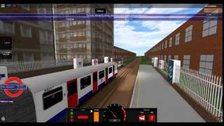 Roblox London-Underground New Teleport GUI driving on a *RARE* D78 train on Hammersmith & City