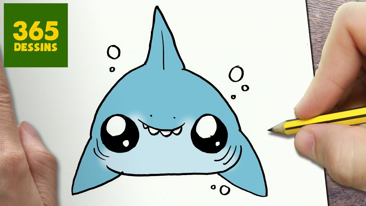Comment dessiner requin kawaii tape par tape dessins kawaii facile youtube - Requin a dessiner ...