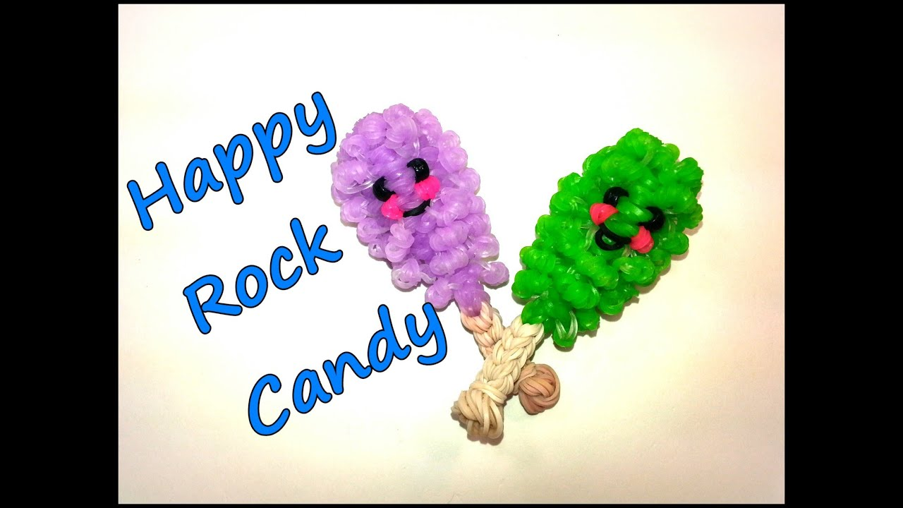 3 d happy rock candy tutorial by feelinspiffy rainbow loom youtube baditri Images