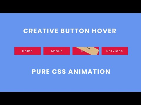 Creative CSS Button Hover Effect | Button Animation Effect