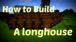Minecraft - How To build Viking Longhouse!!!