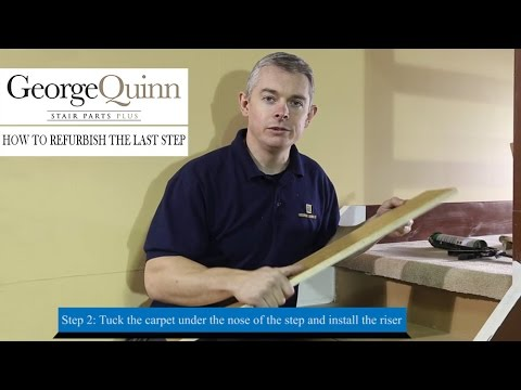 Staircase renovation – part 4: how to refurbish the last step of a staircase - George Quinn
