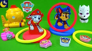 Paw Patrol Bath Time Toys Ring Toss Games Fizzy Dinotrux Aquadon Surprise Mashems Sweetie Toys Video
